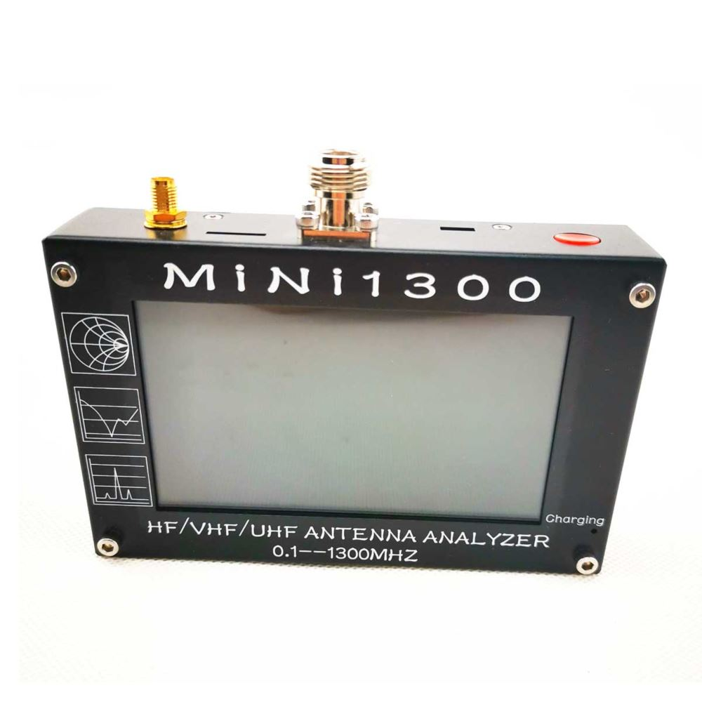 Mini1300 0.1-1300MHz HF/VHF/UHF ANT SWR Antenna Analyzer Meter Frequency Sweep