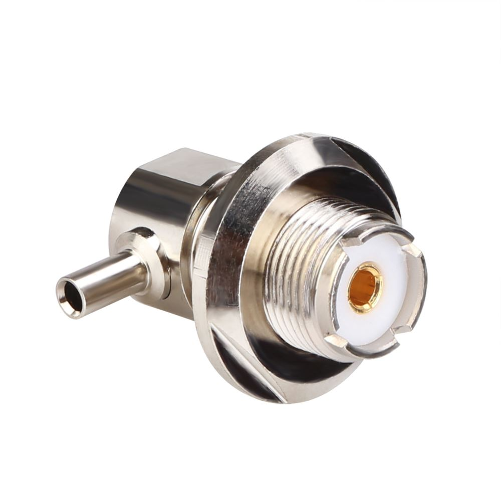 UHF Female Right Angle Twist ON For 1.5D Coaxial Cable