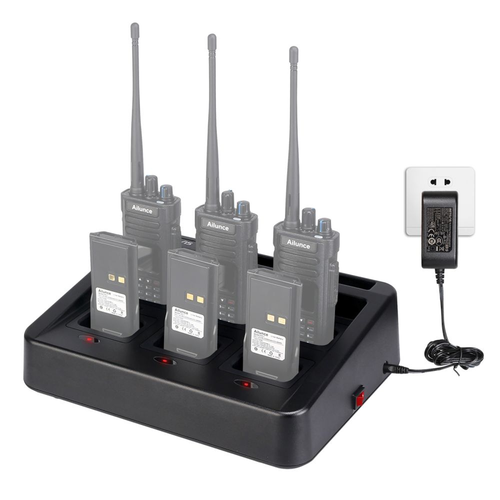 Retevis RTC29 Six-Way Charger Multi Gang Bank Charger for RT29 HD1 Walkie Talkie and Battery