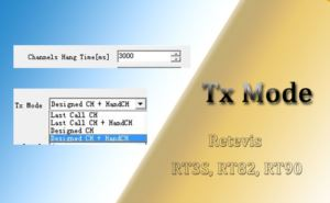 What's the Meaning of Tx Mode on RT90 RT82 RT3S Software doloremque