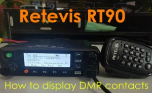 How to display DMR contacts on Retevis RT90 doloremque