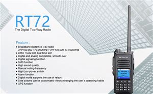 Retevis RT72 U/V Dual Band 5W Analog/Digital Walkie Talkie doloremque