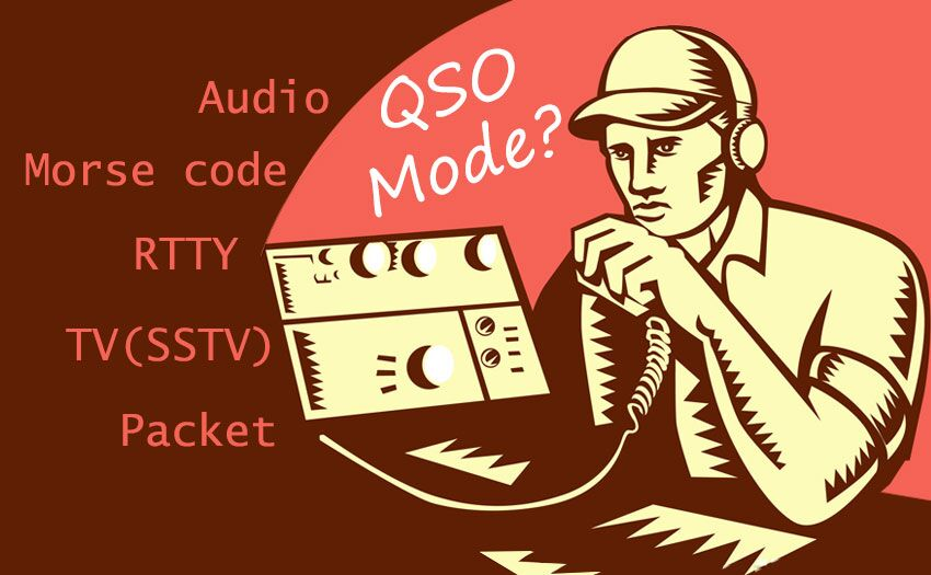 What are QSO modes of amateur radio?