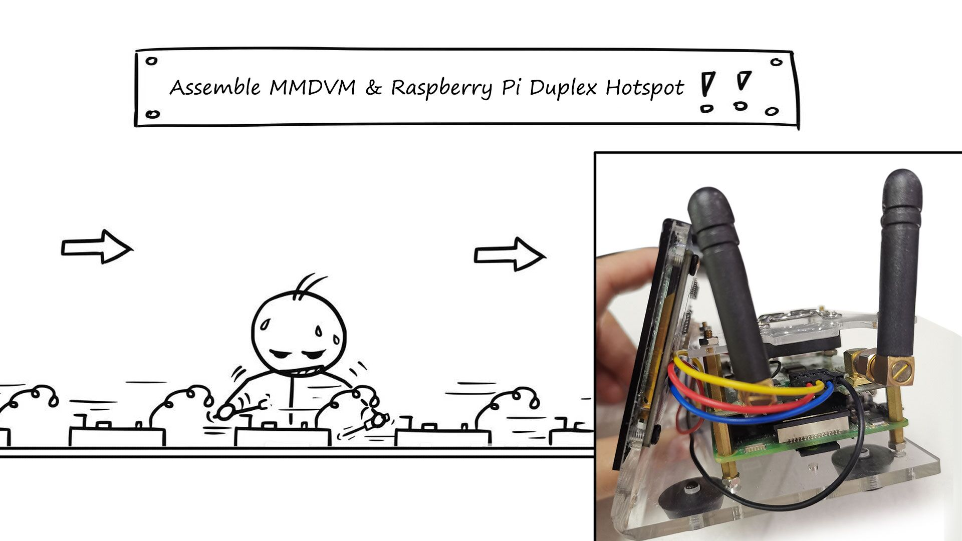 MMDVM Raspberry Pi Duplex DMR Hotspot--Fullly Assemble and Settings