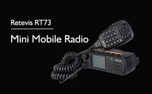 Retevis RT73 Dual Band 20W Mini DMR Digital Mobile Transceiver Radio doloremque