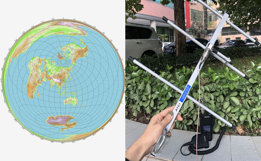 Great Circle Maps for amateur radio