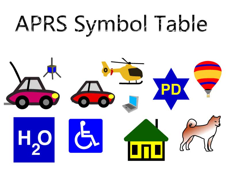 APRS Icon Character Comparison Table Ailunce