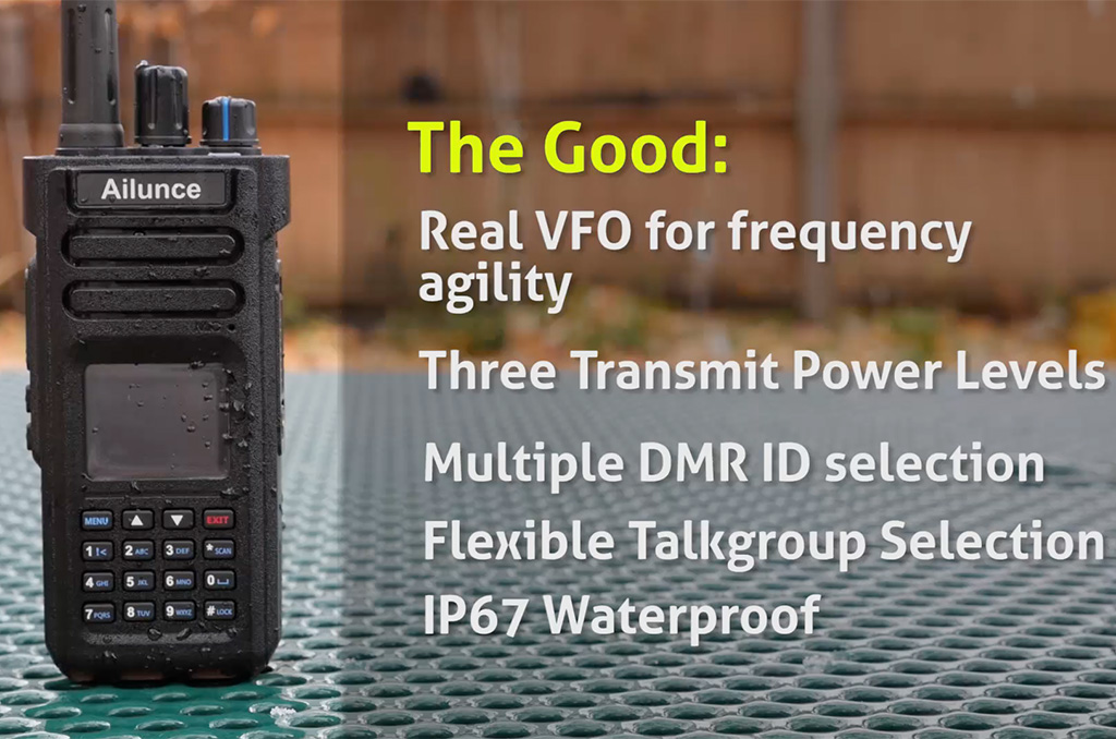 Ailunce HD1 DMR Dual Band Handheld Radio Review by Michael Martens