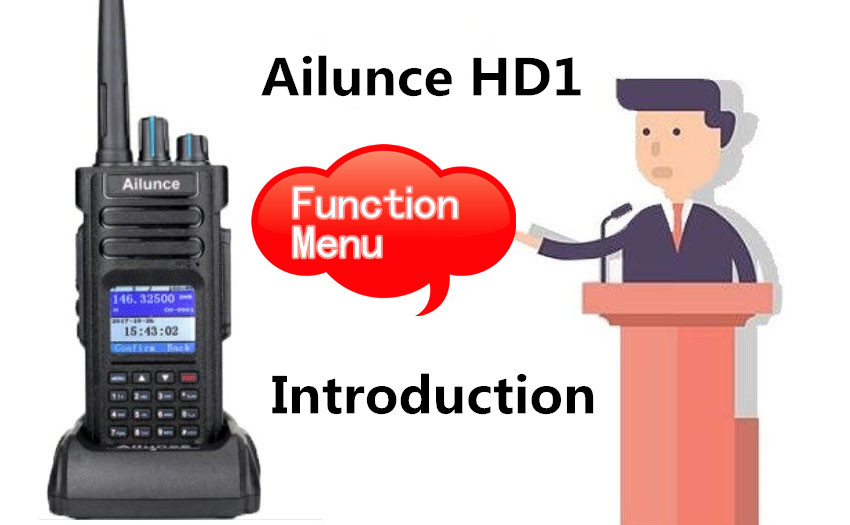 How to set function menu of your HD1 Ailunce